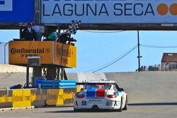Checkered Flag for GT class winners #59 Andrew Davis, Leh Keen: Porsche GT3, Brumos Racing