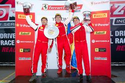 430 podium: class winner #26 Ferrari of Ft. Lauderdale Ferrari F430 Challenge: Juan Hinestrosa, second place #31 Ferrari of Ontario Ferrari F430 Challenge: Damon Ockey, third place #3 Ferrari of Ft. Lauderdale Ferrari F430 Challenge: Francesco Piovanetti