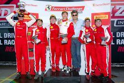 430 podium: class winner #26 Ferrari of Ft. Lauderdale Ferrari F430 Challenge: Juan Hinestrosa, second place #31 Ferrari of Ontario Ferrari F430 Challenge: Damon Ockey, third place #3 Ferrari of Ft. Lauderdale Ferrari F430 Challenge: Francesco Piovanetti,