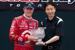 Podium: 2de Scott Dixon, Target Chip Ganassi Racing