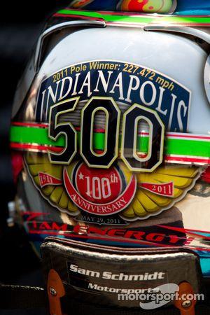 Helmet of Alex Tagliani, Sam Schmidt Motorsports