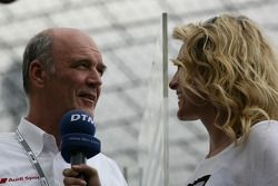 Dr. Wolfgang Ullrich, Audi's Head of Sport with Christina Surer
