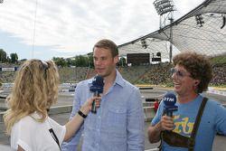 Manuel Neuer Goalkeeper FC Bayern Munchen, Guest of Audi with Christina Surer and Atze Schroder