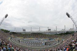 Zicht op het Olympiastadion