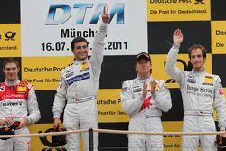 Edoardo Mortara, , Audi Sport Team Rosberg, Audi A4 DTM 2008; BBruno Spengler, HWA AG, Mercedes AMG