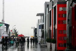 Padock atmosphere, rain