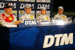 Press conference: Mattias Ekström, Audi Sport Team Abt, Jamie Green, Team HWA AMG Mercedes, pole win
