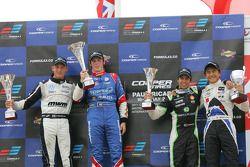 Race winner William Buller, second place Rupert Svendsen-Cook, third place Antonio Felix da Costa, rookie Kotaro Sakurai