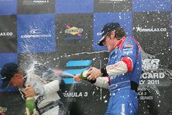 Race winner William Buller, second place Rupert Svendsen-Cook, third place Antonio Felix da Costa