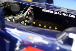 Smiley faces in the cockpit of Sebastian Vettel, Red Bull Racing