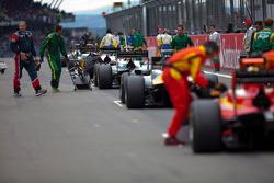 Les GP2 sur la grille avant le début de la course