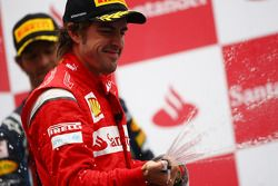 Podium: 2e Fernando Alonso, Scuderia Ferrari