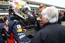 Sebastian Vettel (Red Bull Racing) avec Bernie Ecclestone