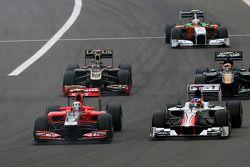 Jerome d'Ambrosio, Virgin Racing y Daniel Ricciardo Hispania Racing Team, HRT