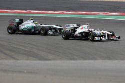 Kamui Kobayashi, Sauber F1 Team, Nico Rosberg, Mercedes GP F1 Team