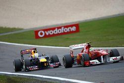 Sebastian Vettel, Red Bull Racing y Felipe Massa, Scuderia Ferrari