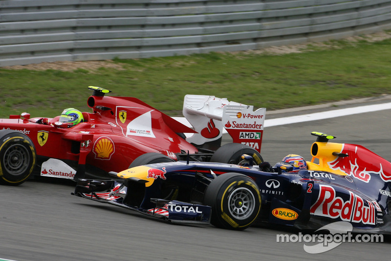 Felipe Massa, Scuderia Ferrari y Mark Webber, Red Bull Racing