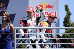 Podium: race winner Casey Stoner, Repsol Honda Team, second place Jorge Lorenzo, Yamaha Factory Raci