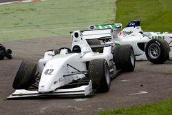 The retired cars of Jordan King and Kelvin Snoeks