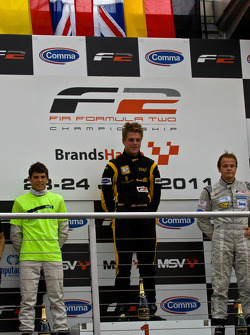 Podium from left: Ramon Pineiro, Jack Clarke and Tobias Hegewald