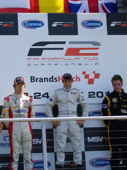 Podium from left: Mirko Bortolotti, Ramon Pineiro and Jack Clarkee
