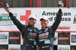 GT podium: class winners Jonathan Bomarito and Sylvain Tremblay