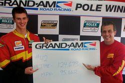 GT pole winner John Edwards with Wayne Nonnamaker