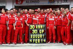 Fernando Alonso, Scuderia Ferrari celebra su cumpleaños 30