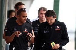 Lewis Hamilton, McLaren Mercedes con Pedro De La Rosa