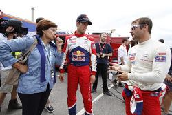 Sébastien Ogier, Sébastien Loeb en Michele Mouton