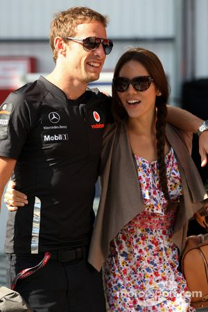 Jessica Michibata girlfriend of Jenson Button, Jenson Button, McLaren Mercedes