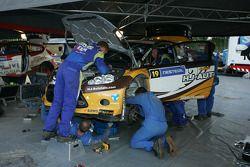 Ford Fiesta RS WRC van Jari Ketomaa en Miika Teiskonen