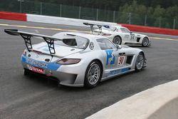 #90 Team Preci Spark Mercedes SLS AMG: David Jones, Godfrey Jones, Mike Jordan