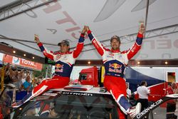 Winnaars Sébastien Loeb en Daniel Elena
