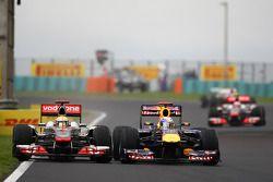 Lewis Hamilton, McLaren Mercedes y Sebastian Vettel, Red Bull Racing