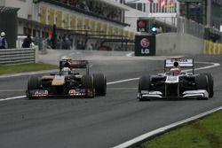 Jaime Alguersuari, Scuderia Toro Rosso y Rubens Barrichello, Williams F1 Team