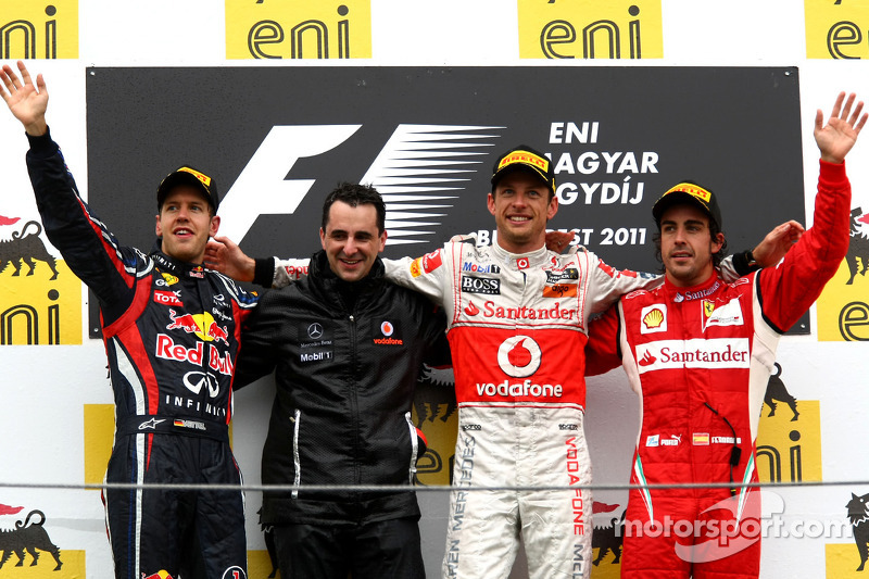 2011: 1. Jenson Button, 2. Sebastian Vettel, 3. Fernando Alonso