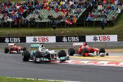 Nico Rosberg, Mercedes GP F1 Team, Fernando Alonso, Scuderia Ferrari