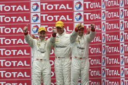 Podium: third place Black Falcon Mercedes SLS AMG: Thomas Jäger, Stéphane Lemeret, Kenneth Heyer