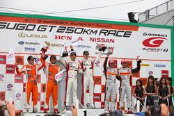 Podium GT300 Winner: #14 Sg Changi IS350: Ryo Orime, Alexandre Imperatori: GT300 2nd place: #74 Corolla Axio apr GT: Morio Nitta, Yuji Kunimoto: 3rd place: #43 Arta Garaiya: Shinichi Takagi, Kosuke Matsuura