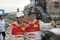 Pole Mattias Ekström, Audi Sport Team Abt met 3de Mike Rockenfeller, Audi Sport Team Abt