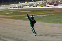 Race winner Ricky Stenhouse Jr. celebrates