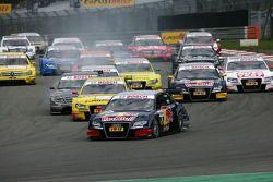 Start Race, Mattias Ekström, Audi Sport Team Abt Audi A4 DTM aan de leiding