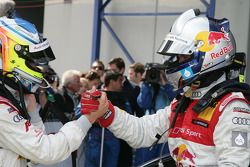 Race winnaar Mattias Ekström, Audi Sport Team Abt met Mike Rockenfeller, Audi Sport Team Abt