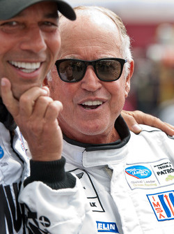 Greg Pickett messes around with Tomy Drissi