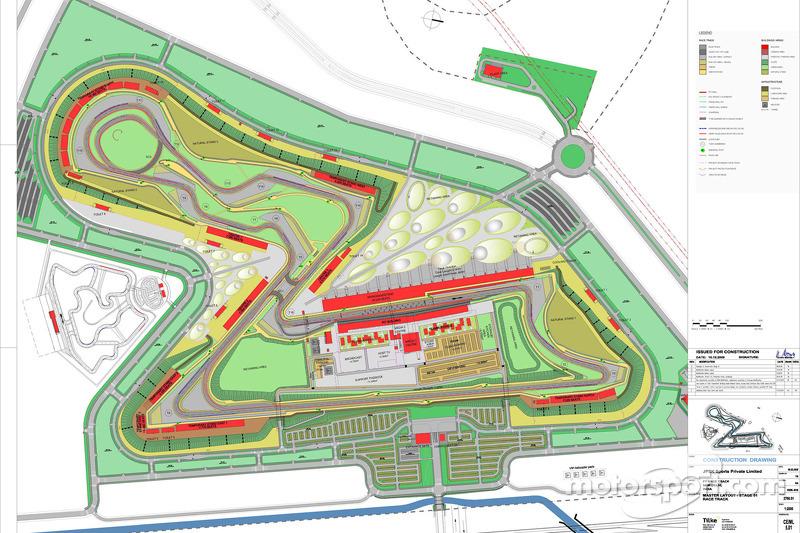 Buddh International Circuit track map
