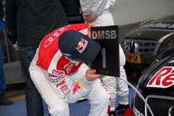Race winnaar Mattias Ekström, Audi Sport Team Abt
