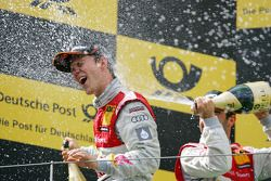 Podium: race winner Mattias Ekström, Audi Sport Team Abt, third place Mike Rockenfeller, Audi Sport