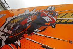 Repsol Honda Team paddock área