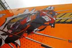 Repsol Honda Team paddock area